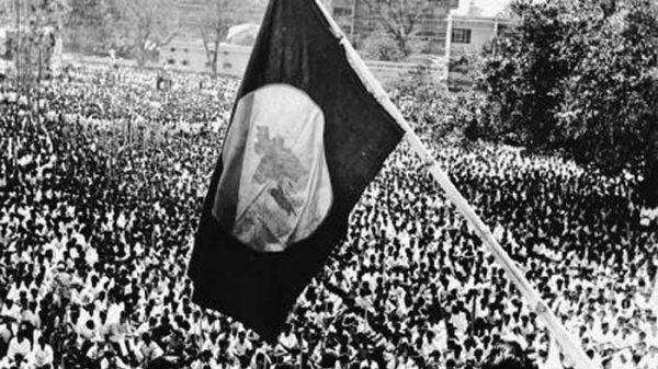 """""""স্বাধীন বাংলার প্রথম পতাকা উত্তোলন"""": ধনঞ্জয় দে"""