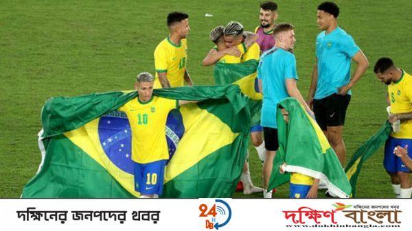 অলিম্পিক ফুটবলে টানা দ্বিতীয়বার চ্যাম্পিয়ন ব্রাজিল